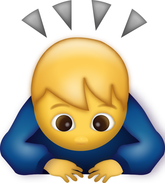 Man Bowing Emoji [Free Download iPhone Emojis] Icon Free Photo PNG Image